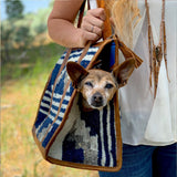 Blue and Grey Wool Guatemalan Bag  The Fox and the Mermaid