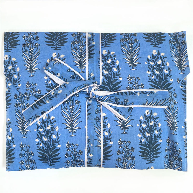 Blue Mughal Block Printed Pajamas - The Fox and the Mermaid