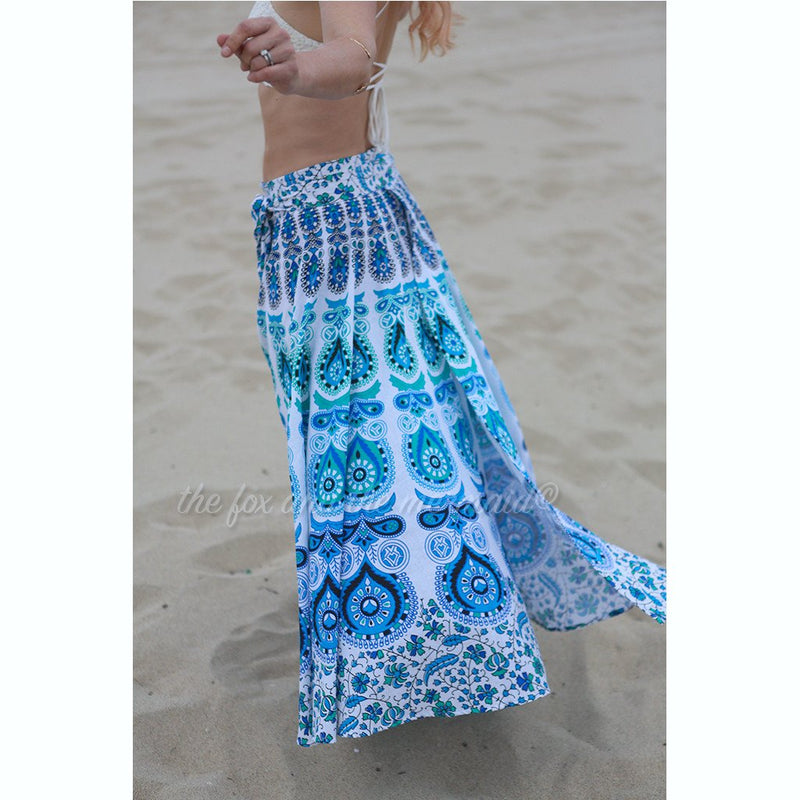 Beatnik Blue Mandala Wrap - The Fox and The Mermaid