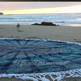 Under the Sea Mandala Roundie with White Fringe - The Fox and The Mermaid - 2