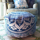 Mandala Tapestry Pouf or Ottoman Cover - The Fox and The Mermaid - 1