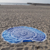 Mother Ocean Round Beach Towel - The Fox and The Mermaid - 2