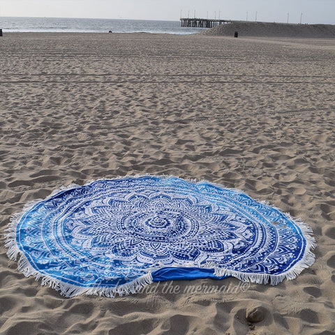 Mother Ocean Round Beach Towel