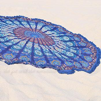 Under the Sea Mandala Roundie with Blue Fringe - The Fox and The Mermaid - 2