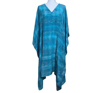 blue silk indian kaftan - The Fox and the Mermaid