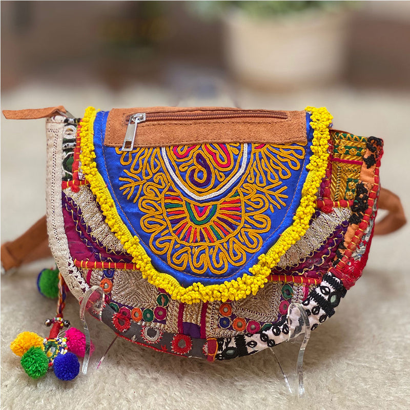 Beaded and Embroidered Hip Bag  The Fox and the Mermaid