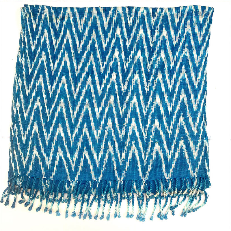 blue ikat guatemalan shawl - The Fox and the Mermaid