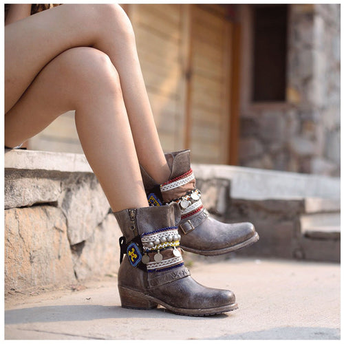 Gypsy style boot bracelets The Fox and the Mermaid