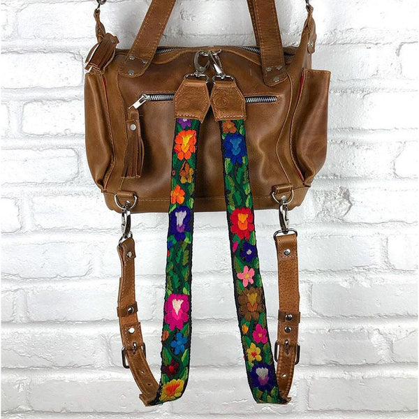 Rainbow colored backpack straps detachable - The Fox and the Mermaid