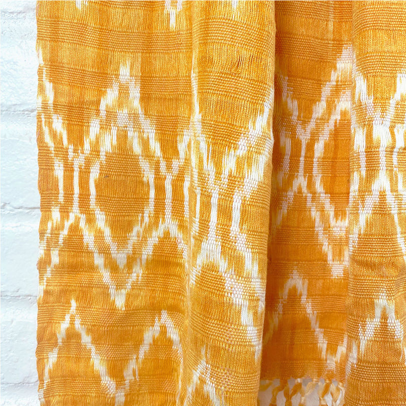 handwoven Guatemalan Scarf Detail - The Fox and the Mermaid