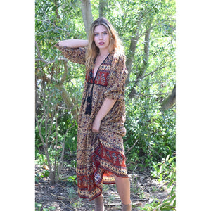 Brown indian maxi dress the-fox-and-the-mermaid