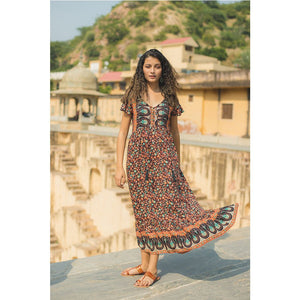 rayon voile bohemian dress The Fox and the Mermaid