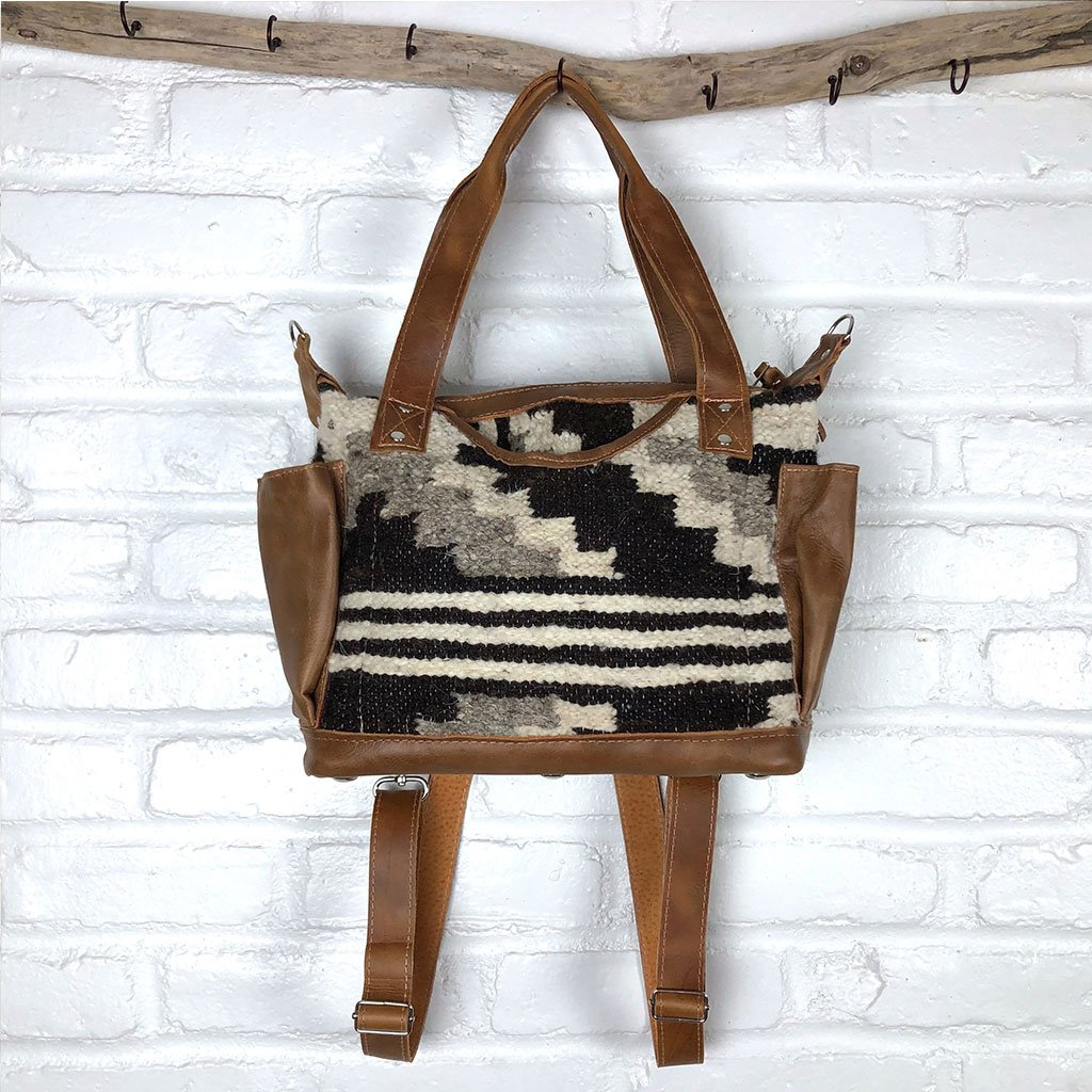 cocolate brown wool rug convertible day bag The Fox and the Mermaid