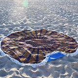 Gypsy Wanderer Round Beach Towel - The Fox and The Mermaid - 3