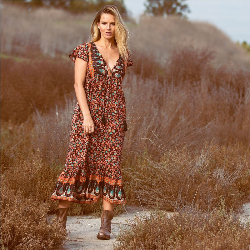 long flowy dress with tassels The Fox and the Mermaid