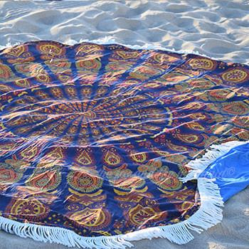 Gypsy Wanderer Round Beach Towel - The Fox and The Mermaid - 1