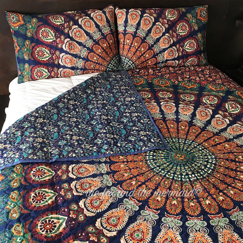 Custom Double-Sided Mandala Quilt with your two favorite patterns