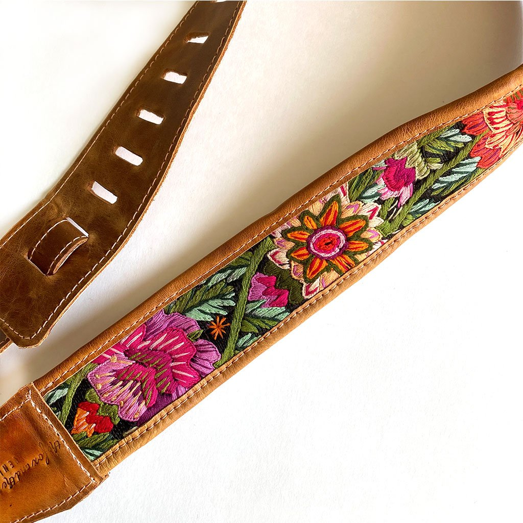 Detail Boho Guitar Strap - The Fox and the Mermaid