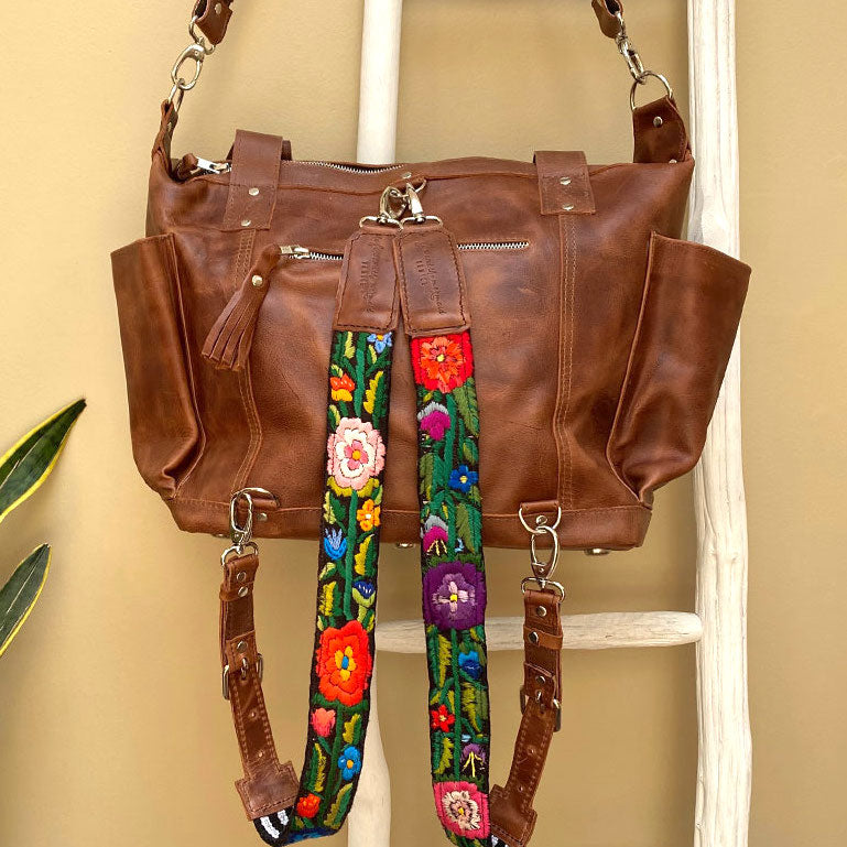 brown leather convertible 3 way bag - The Fox and the Mermaid
