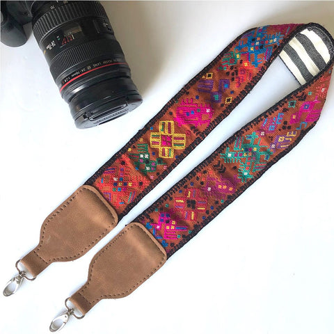 Vegan Leather Embroidered Strap
