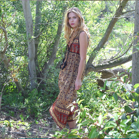 Santa Cruz Sleeveless Dress: Umber