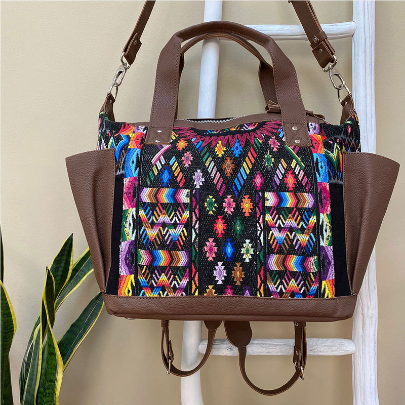 brown fake leather guatemalan bag  - The Fox and the Mermaid