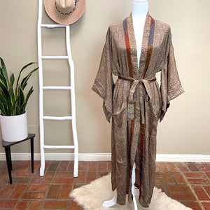 brown silk robe - The Fox and the Mermaid