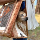 rust and grey wool dog bag   The Fox and the Mermaid