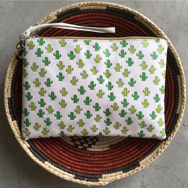 Desert Cactus Cosmetics Bag - The Fox and The Mermaid