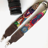 Embroidered colorful camera strap The Fox and the Mermaid