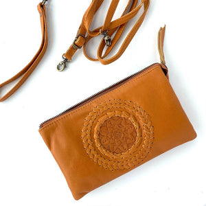 Tan leather 3-1 bag The Fox and the Mermaid