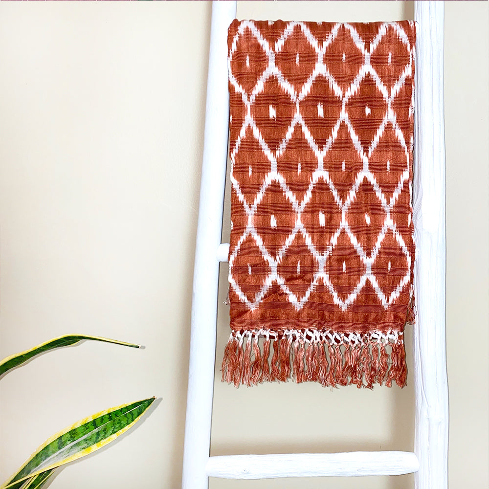 Burnt sienna guatemalan scarf - The Fox and the Mermaid