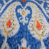 Sky Blue Ikat Kantha Quilt - The Fox and The Mermaid - 2
