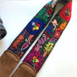 Detail: blue and red flowers on strap The Fox and the Mermaid