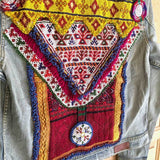 Detail of Embellished Denim Jacket The Fox and the Mermaid