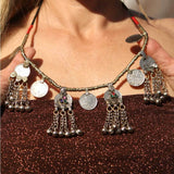 Coin Necklace with Dangling Bells The Fox and the Mermaid