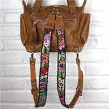 Leather Embroidered Backpack Straps - The Fox and The Mermaid