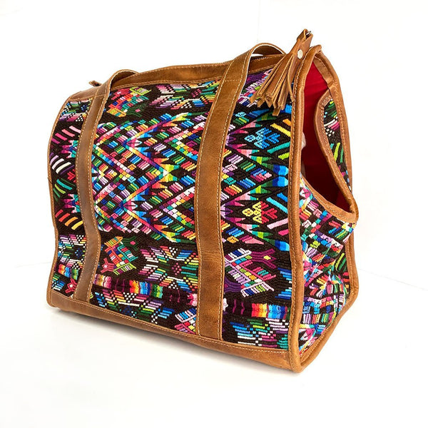 Rainbow colored Dog Bag The Fox and the Mermaid