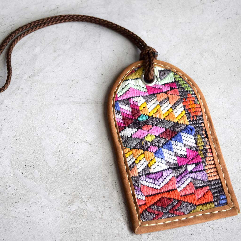 Handwoven vintage luggage tag - The Fox and the Mermaid