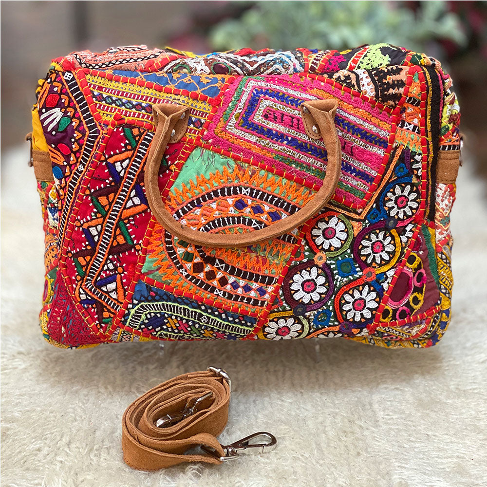 Bohemian style computer bag from india - The Fox and the Mermaid