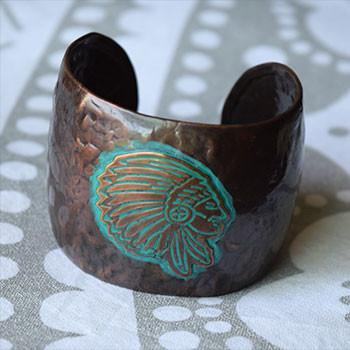 Antique Bronze Boho Cuff - The Fox and The Mermaid