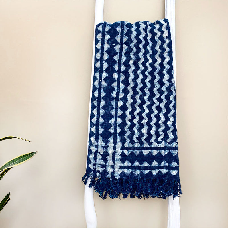 blue indigo throw - The Fox and the Mermaid