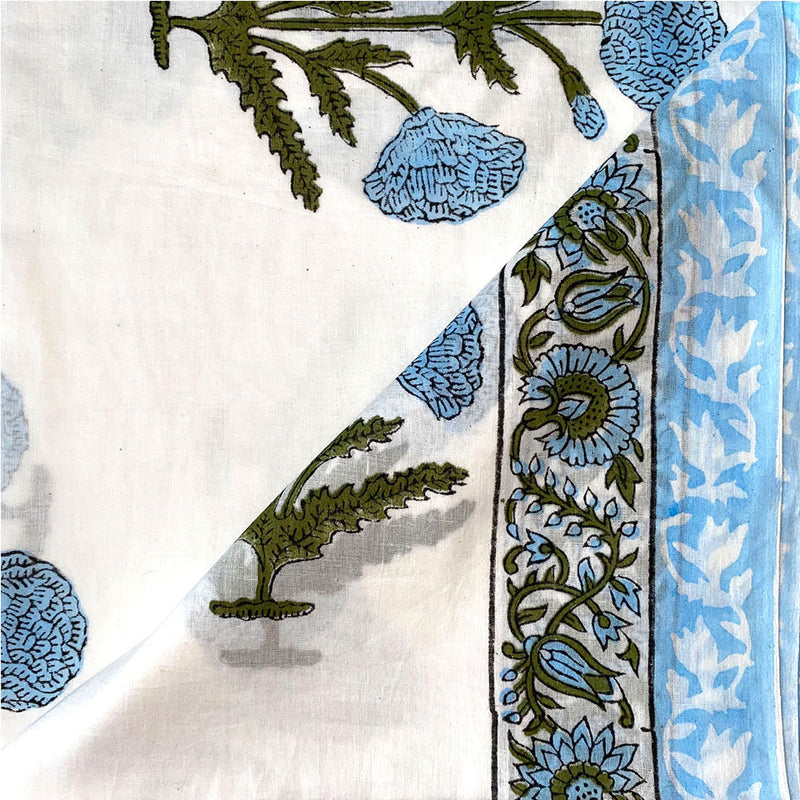 blue sarong detail - The Fox and the Mermaid