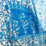 Detail: Blue Bohemian Peasant Top The Fox and the Mermaid