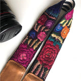 embroidered camera strap The Fox and the Mermaid