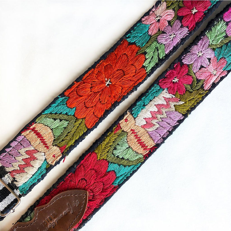 guitar strap embroidered details - The Fox and the Mermaid