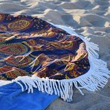 Gypsy Wanderer Round Beach Towel - The Fox and The Mermaid - 2