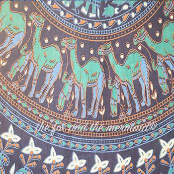 The Maharaja Mandala Roundie with Blue Fringe - The Fox and The Mermaid - 3