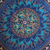 Mandala Tapestry Floor Cushion and Dog Bed: Blue - The Fox and The Mermaid - 2