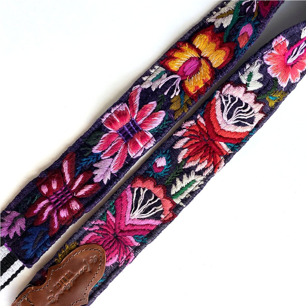 detail of guitar strap - The Fox and the Mermaid
